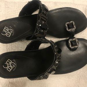 BCBG generation sandals with jewelry size 8,5